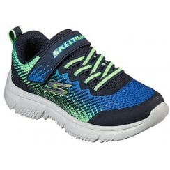 Skechers Boys GOrun 650 Machine Washable Black and Blue Trainers