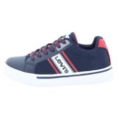 Levi's Kids Future X Navy Lace Up Trainer