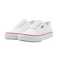 Levi's Kids New Pearl White Lace Up Trainers