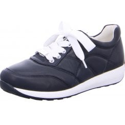 Ara Ladies Osaka Navy Quilted Trainer