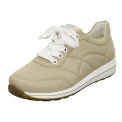 Ara Ladies Osaka Camel Quilted Trainer
