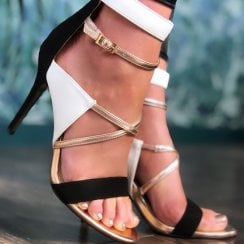 Glamour Roberta Strappy High Heel Dressy Sandal Shoes