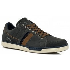 Lloyd and Pryce Mens Franks Slate Grey Trainers