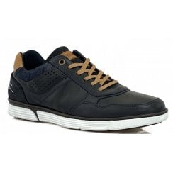 Lloyd and Pryce Mens Larmour Deep Ocean Navy Trainers