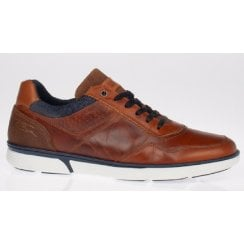 Lloyd and Pryce Mens Larmour Camel Weave Brown Trainers