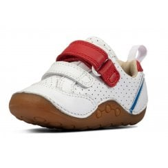 Clarks Infants Tiny Sky White Leather Shoes