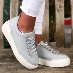 Moda In Pelle Alejandra Light Blue Trainer