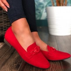 Marco Tozzi Ladies Chilli Red Loafers