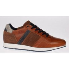 Lloyd and Pryce Mens Varley Spiced Toffee Brown Trainers