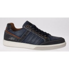 Lloyd and Pryce Mens Scriven Navy Lace up Trainers