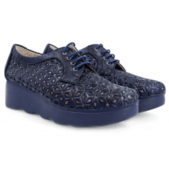 Pitillos Marley Navy Perforated Design Shoe