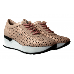 Pitillos Ladies Marley Pink Perforated Trainers