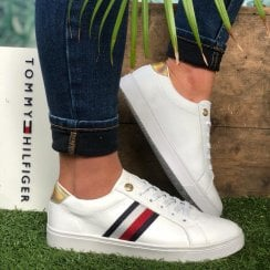 Tommy Hilfiger Ladies Signature Tape Cupsole Trainer