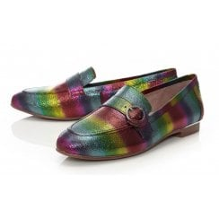 Moda In Pelle Fina Ladies Rainbow Leather Loafer