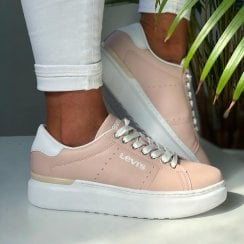 Levi's Ladies Ellis Max Pink Chunky Trainer