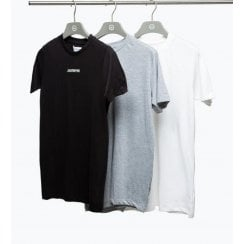 Hype Mens Black Grey and White 3 Pack T-Shirts