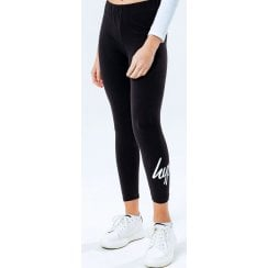 Hype Kids Girls Black Script Leggings