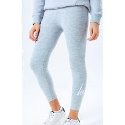 Hype Kids Girls Grey Script Leggings