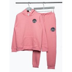 Hype Girls Pink Crest Hoodie and Joggers Set