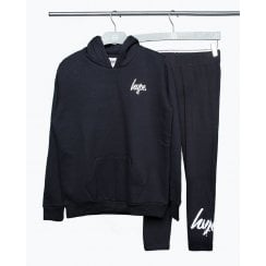 Hype Girls Black Hoodie and Leggings Set