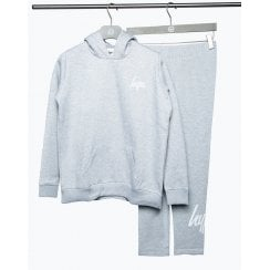 Hype Girls Grey Hoodie and Leggings Set
