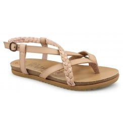 Blowfish Ladies Mallorca Blush Rose Gold Strappy Sandals